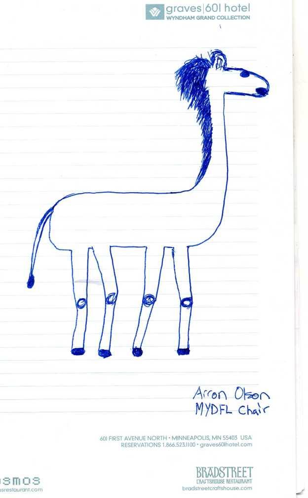 Fmr. MYDFL chairman Arron Olson's pretty awful giraffe drawing