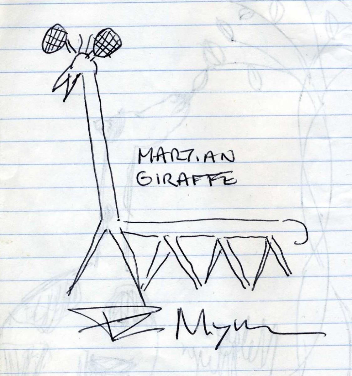 Atheist Blogger PZ Myers's Giraffe Art