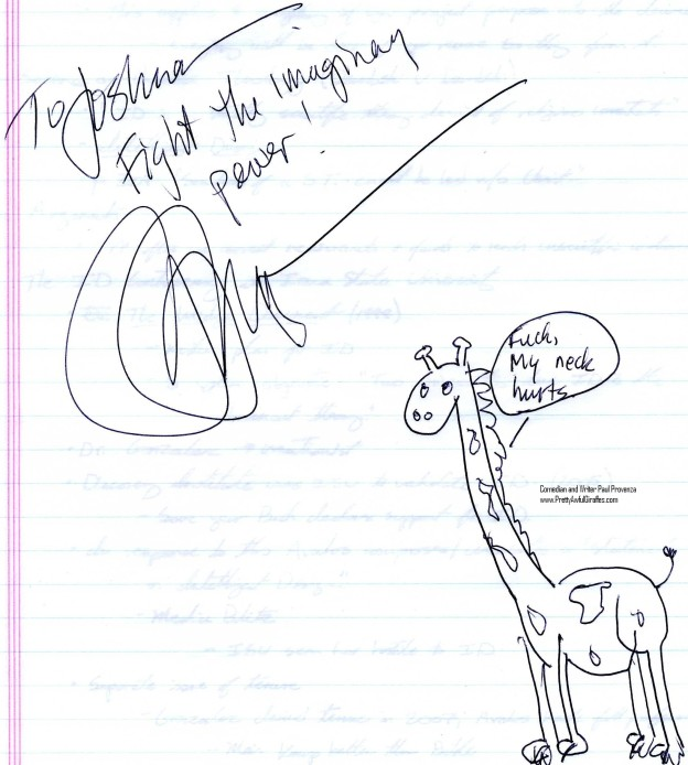 Writer and Comedian Paul Provenzas Pretty Awful Giraffe 4 22 11