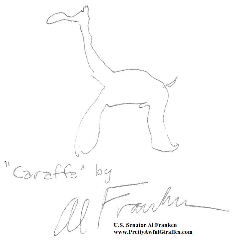 Al Franken Giraffes Drawn By People Who Should Not Be Drawing - Al franken draws a map of us