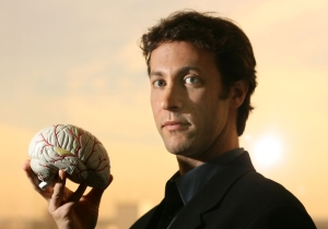 Neuroscientist David Eagleman and His Giraffe