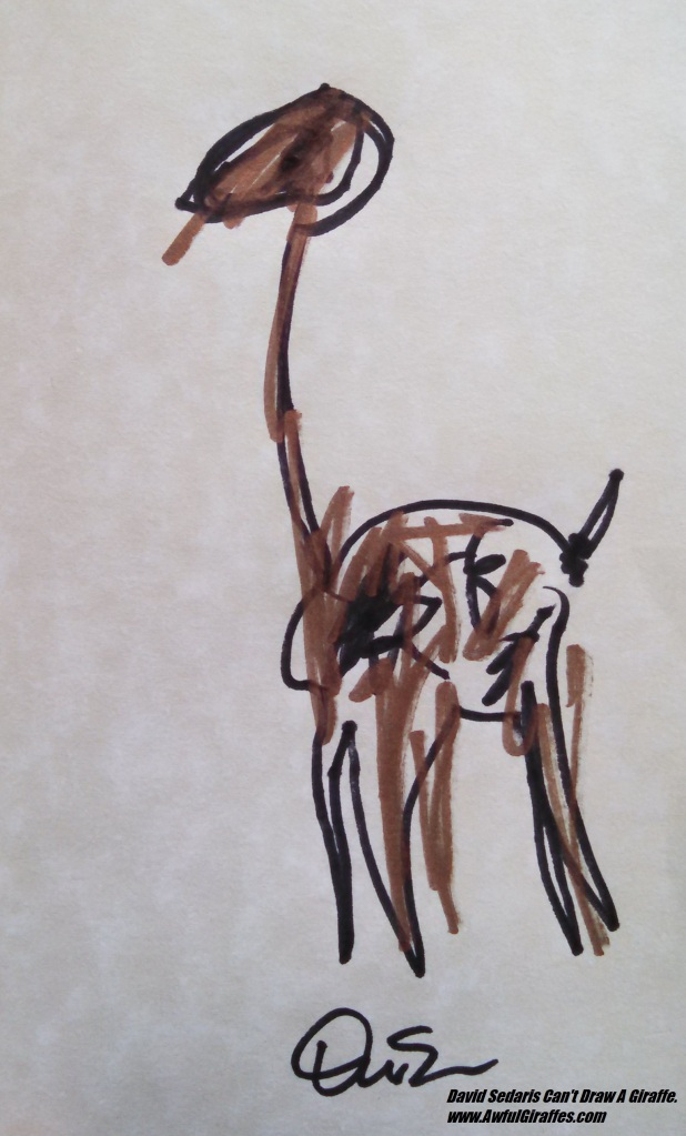 David Sedaris Giraffe Drawing
