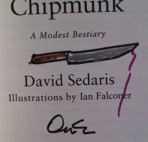 David Sedaris Knife Art Drawing