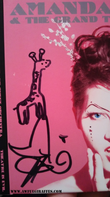 Amanda Palmer Giraffe Drawing
